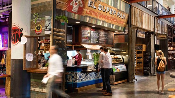 interior of Ponce City Market in Atlanta