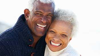 mid senior couple laughing
