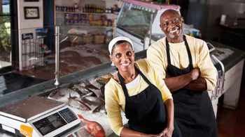 two business owners in their shop