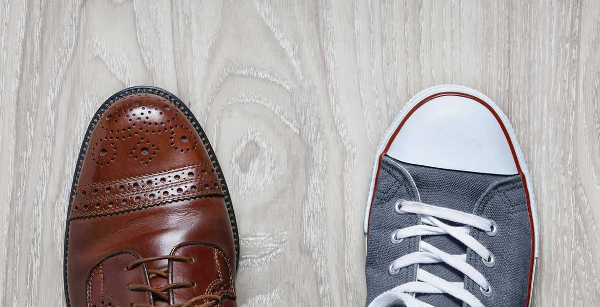 work shoe and casual shoe