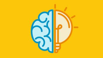 illustration of a brain and light bulb