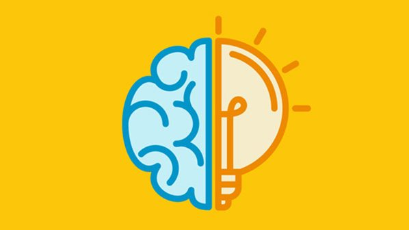 graphic of a half brain half lightbulb captioned 'ways to keep your mind sharp'
