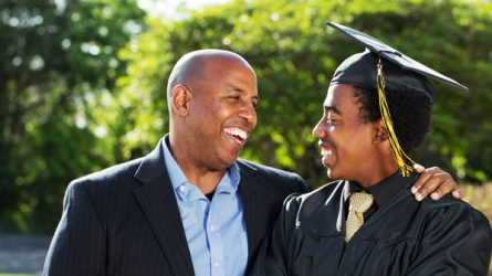 father and his graduate son