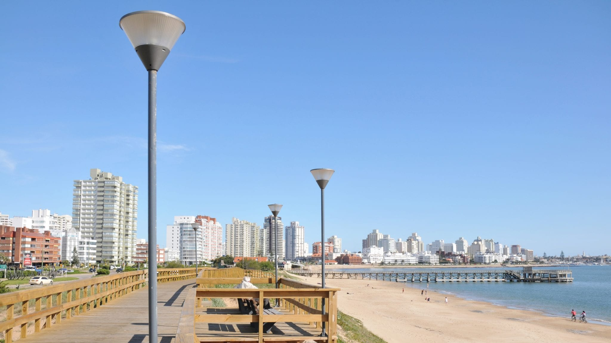A view of Punta del Este in Uruguay