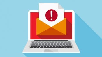 illustration of email online alert
