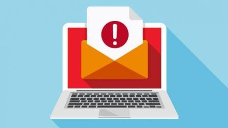 illustration of email online alert