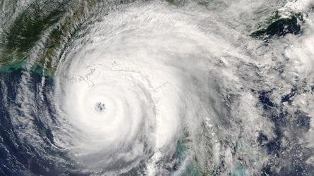 Radar image of a hurricane.